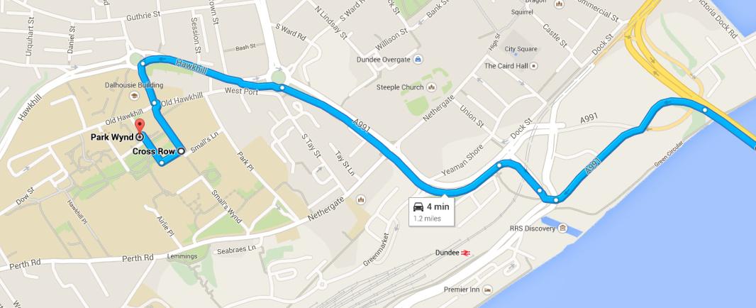 Map: Tay Rd Bridge to QMB