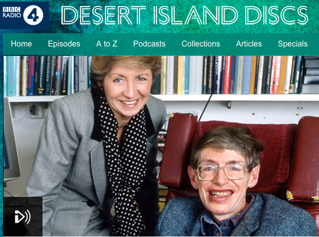 Sue Lawley with Stephen Hawking on DID