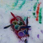 Paints on snow