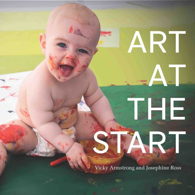 Book cover image of a baby painting