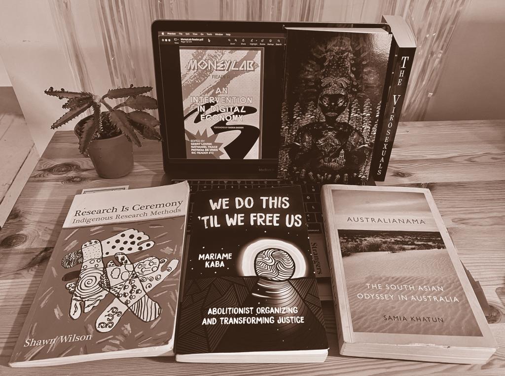 books displayed on table