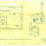 Plan of Arthurstone Gas works, showing section, elevation and layout