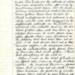 Page of handwritten description of machine wrecking, extracted from 'Reminiscences of Peter Carmichael'