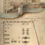 Plan of Baxter Bros Dens Works Calendar, showing elevation and layout