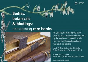 Bodies, botanicals & bindings poster