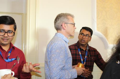 GoDARTS-Pitlochry-Posters-Prof Ewan Pearson chatting to Aravind Rajendrakumar INSPiRED PhD Candidate_thumb_33b0
