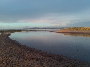Incoming tide at Tentsmuir (looking NW towards Dundee)