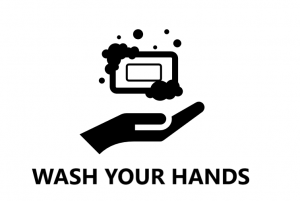 Diagram of hand and soap