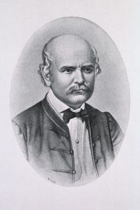 A portrait of Ignaz Semmelweis
